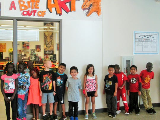 Edmunds first-grade students learn about hallway travel