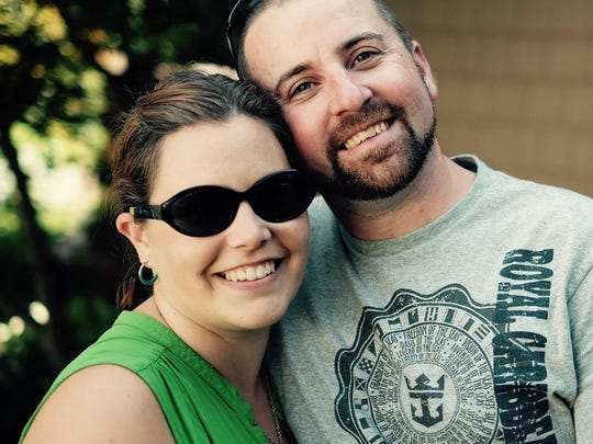 Heidi and Brendon Cousino of Richmond. Brendon Cousino was killed on July 30 on I-89 in Richmond.