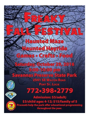 Freaky Fall Festival is set for Oct. 29.
