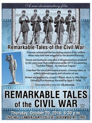 Poster for the free screening of a new Civil War documentary written and produced by a Magnolia resident.