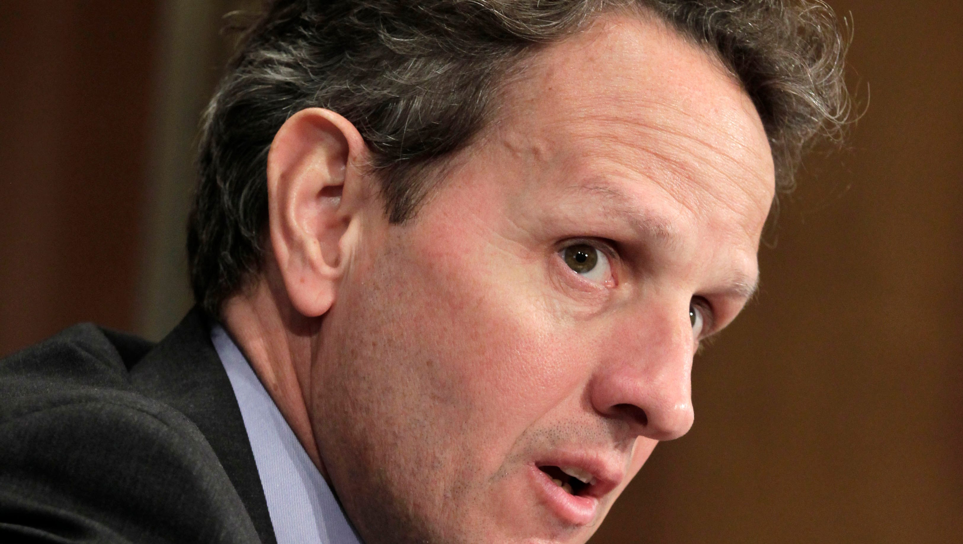 Former Treasury Secretary and New York Fed President Tim Geithner testified Wednesday in former AIG CEO Maurice Greenberg's lawsuit against the government.