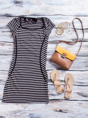 A T-shirt dress is perfect for both work and play.