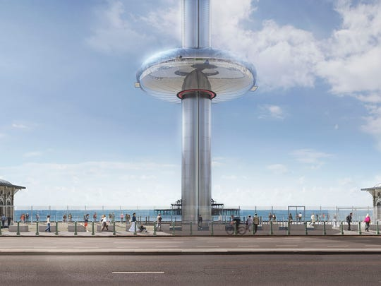 A rendering of the upcoming British Airways i360 in Brighton, England. (Jim Stephenson/Courtesy British Airways i360/TNS)