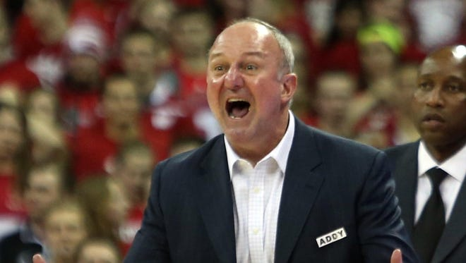 Thad Matta, seen here in a file photo, showed off his team's new uniforms.