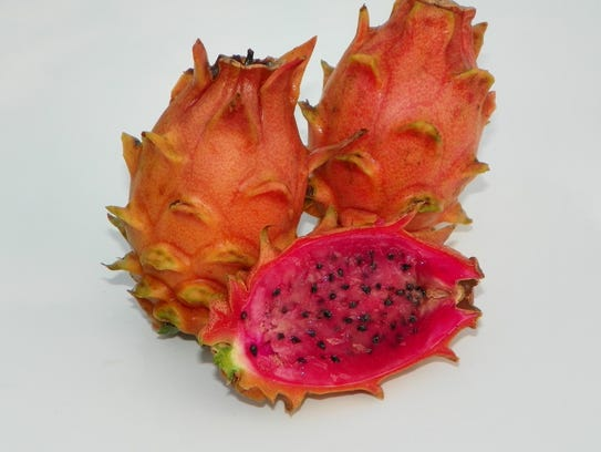 Dragon fruits are pictured at Spicy Exotics in Breaux