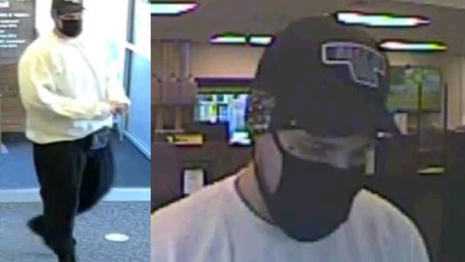 Security image from robbery at First Merchants Bank, 1500 N. Custer Rd., Monroe.