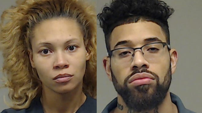 26-year-old Brooke Craig, left, of Texas, is accused of shooting Kaden Green, the 7-year-old of her boyfriend Cameron Castillo, right.
