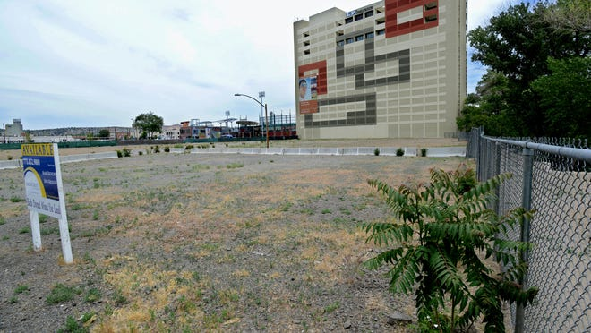 The vacant lot on Lake and Second Street. Years ago the Bundox Restaurant was located here.
