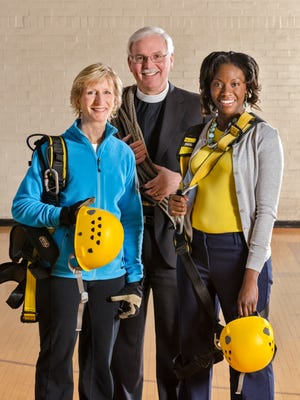 Edgers Susie Lame, The Rev. Canon Jack Koepke and Donial Curry are all fundraisers for Episcopal Retirement Homes.