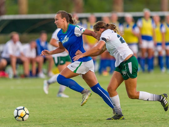 FGCU sophomore Marjorie Boilesen got a leg up on most players by competing for her native Brazil as a 13-year-old.