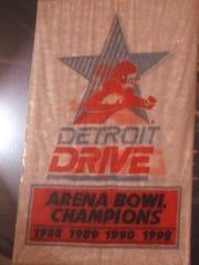 Detroit Drive championship banner in Joe Louis Arena