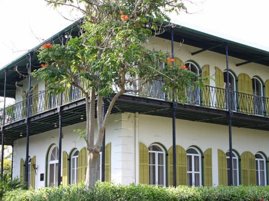 Florida: Ernest Hemingway Museum in Key West. Admission: $14 adults; $6 ages 6-12; Free 5 and under. Annual attendance: 180,000. Known for: The author's residence during the 1930s.