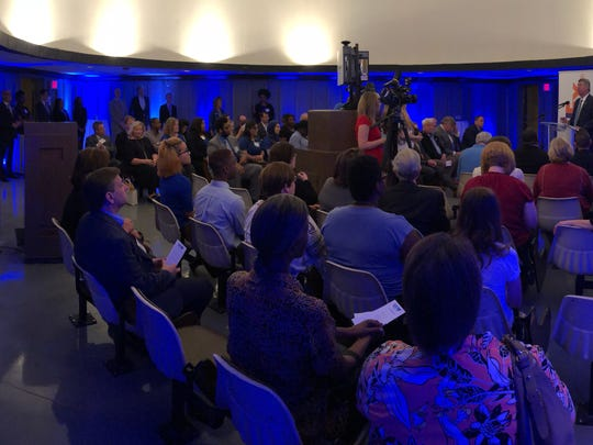 Tom Kadien, UMRF Ventures CEO, addresses the audience