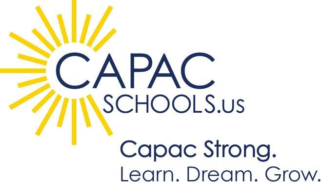 The current Capac Community Schools logo