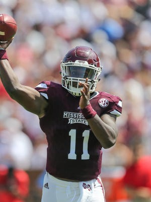 Mississippi State's Damian Williams completed 20 of 28 passes against South Alabama on Saturday.