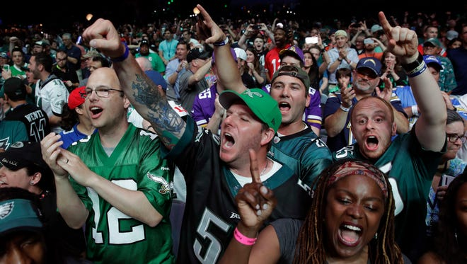 Eagles' fans cheer during the second round of the 2017 NFL Draft.