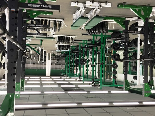 The new Novi High fitness center features one side