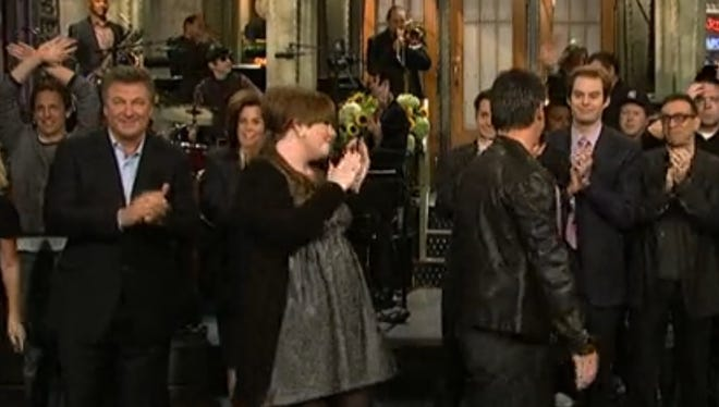 Here's Adele in her 'SNL' debut back in Oct. of 2008.