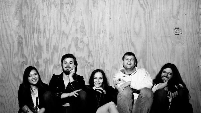 From left, Hali Kha, Chris Rimmer, Ansley Rimmer, Clyde Hargrove, and Jason Mills of Hydrogen Child.