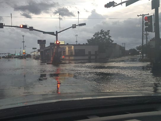 The intersection of Sherwood Way and Van Buren amid