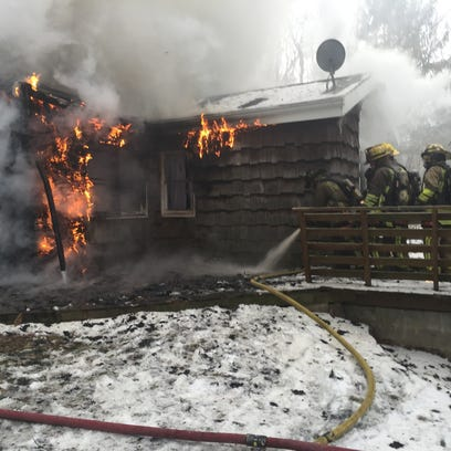 Firefighters battled flames in a Southeast home on