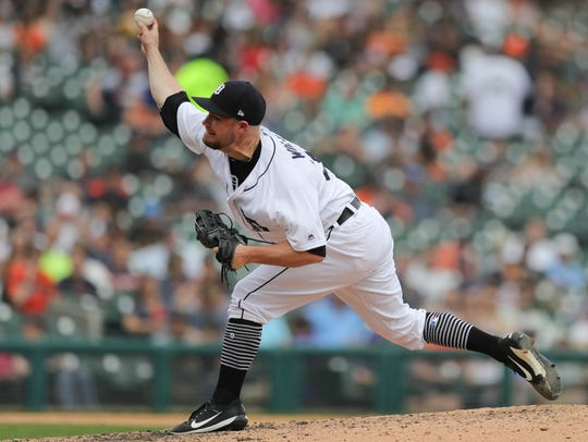 Detroit Tigers Alex Wilson pitches against Tampa Bay