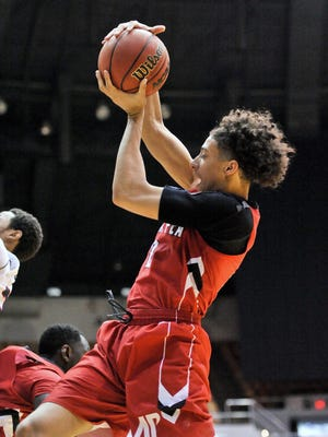 Austin Peay Governors guard Jared Savage (2) grabs a rebound.
