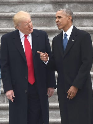 President Donald Trump and former President Barack Obama Friday just after Trump took the oath of office: Now that Obama is gone, let's get rid of Obamacare and thereby give the middle class a tax cut, argue Brett Healy and Grover Norquist.