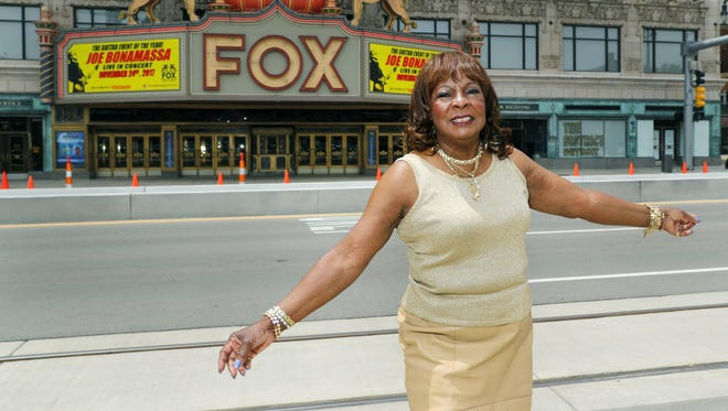 Martha Reeves stands outside the Fox Theatre. The Motown legend will be performing a fundraiser for A Beautiful Me.