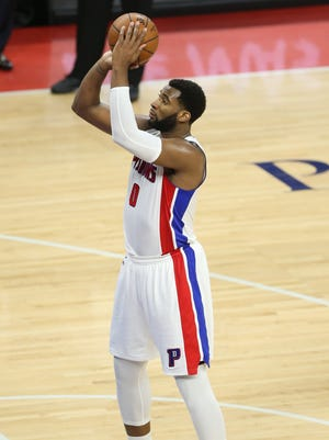 Pistons center Andre Drummond misses a free throw during the third period of Sunday's Game 4 at the Palace.
