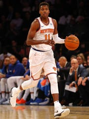 New York Knicks point guard Frank Ntilikina (11) in
