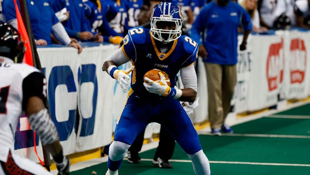 Wide receiver Julius Gregory feels rejuvenated coming over from the 1-11 Tampa Bay Storm to the 10-3 Rattlers.