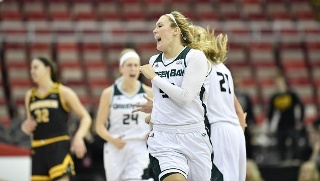 Senior forward Sam Terry and the University of Wisconsin-Green Bay women advanced to the Horizon League title game with a win over UW-Milwaukee on Monday.