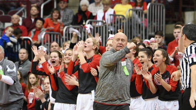Greg Moore made his first state appearance this year taking the Buckettes to the final four.