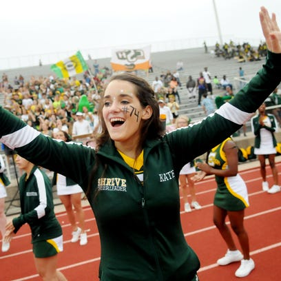 Captain Shreve's Katie Matkins cheers for her team