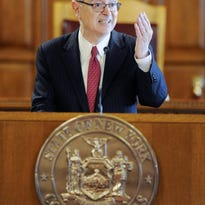 New York Chief Judge Jonathan Lippman speaks during a Law Day event at the Court of Appeals in Albany.