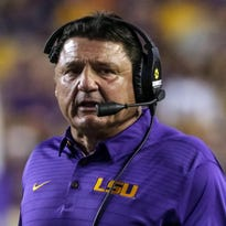 Coach Orgeron Q&A: Still lots of questions, but a few answers arrived in LSU's spring game