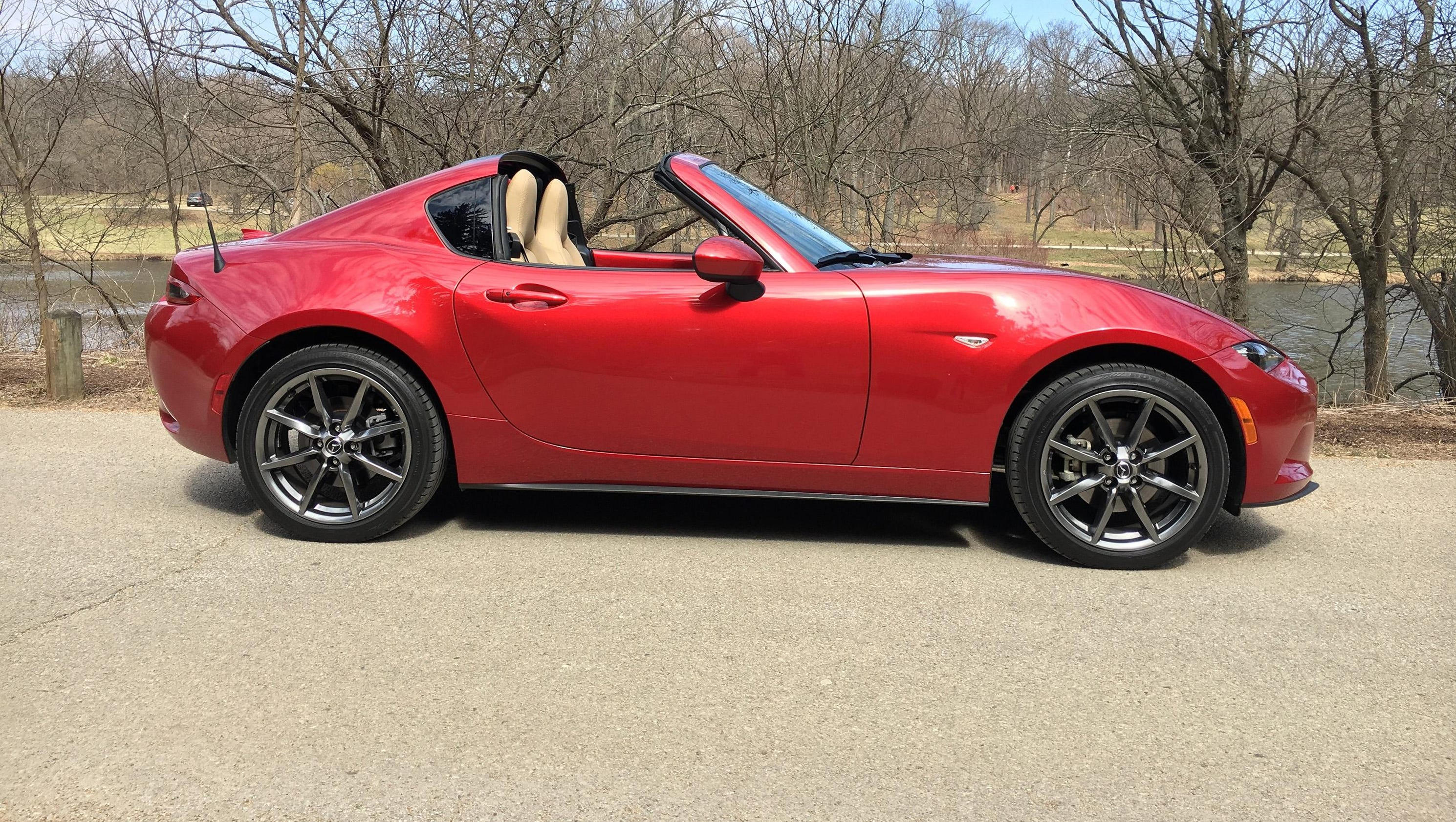 levels mazda more looks new you mx rf trim same grand alert go departure cars get warning lane to have but expensive traffic rear touring also fancy miata hardtop cross the for great driving both