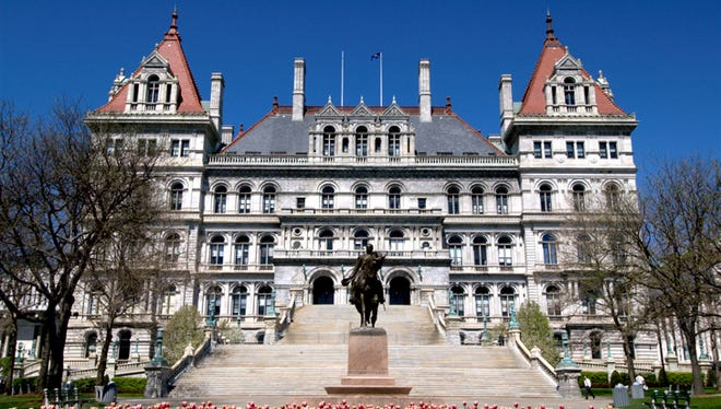 New York - Albany (Credit: Discover Albany, albany.org) The New York capitol building is a stunning display of Romanesque Revival architecture. In 1899, when it was finished, the state house had cost $25 million to complete, which was the most expensive government building of its time.