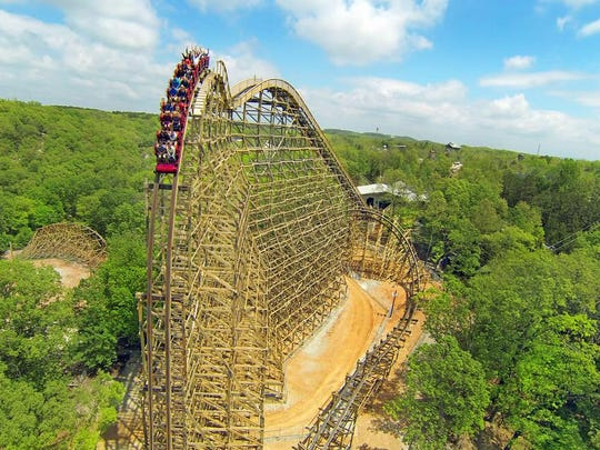 Silver Dollar City's Outlaw Run placed No. 2 in the list of Top 10 roller coasters chosen by USA Today readers. The ride brings the world's only double-barrel roll on a wooden roller coaster, a 720-degree, triple, upside-down twist.