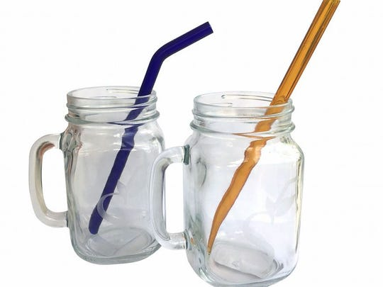 Glass straws from The Ecology Center