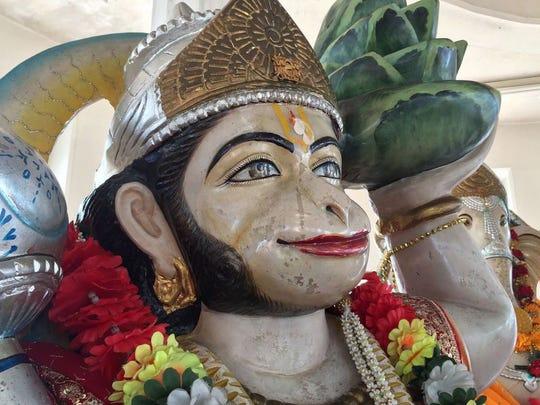 Inside the Temple in the Sea, Hindu deities