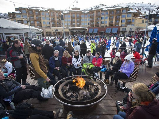 S'mores at Canyons Village, Park City Mountain