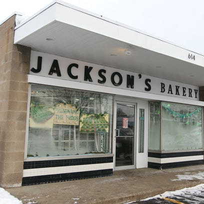 The exterior of Jackson's Bakery has a simple look.