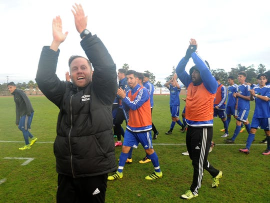 Oxnard College coach Ross Greaney was named 2016 Western State Conference North Division men's soccer Coach of the Year. The St. Bonaventure High and Oxnard College graduate has won the award for seven straight seasons.