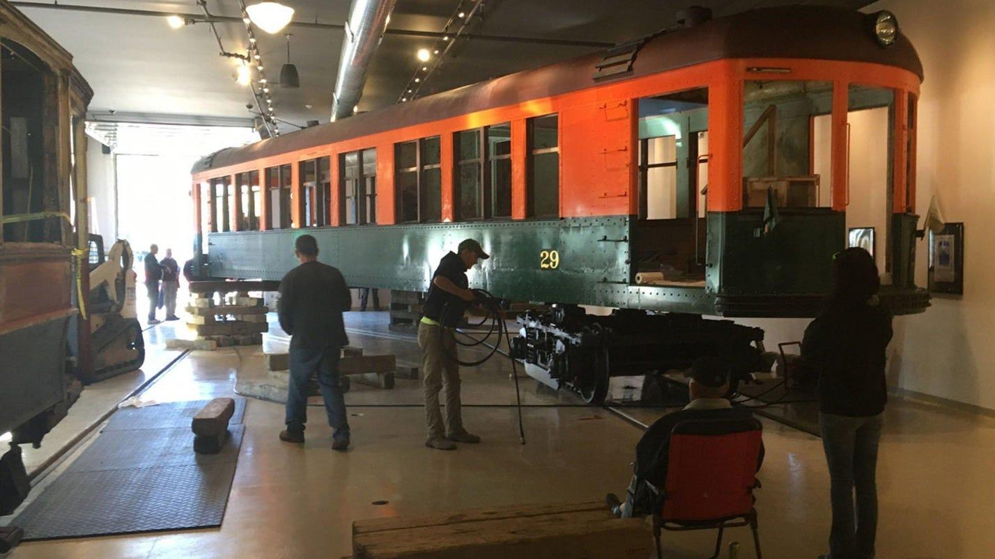 Michigan railway museum gets new electric rail car