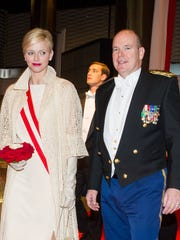 Monaco's Prince Albert II and Princess Charlene, seen in this 2012 photo, will be in Rancho Mirage for a retreat that starts Friday.