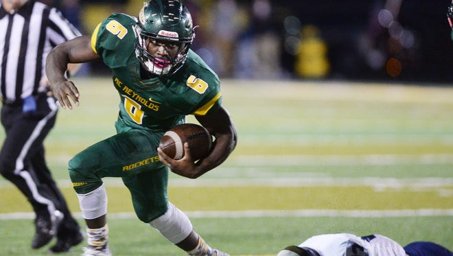 Reynolds' Sean Jones rushed for 146 yards in Thursday's 38-6 home win over Roberson.