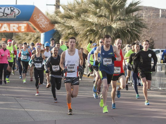 Runners from all over the country compete in the St. George Half Marathon and 5K Saturday, Jan. 16, 2016.