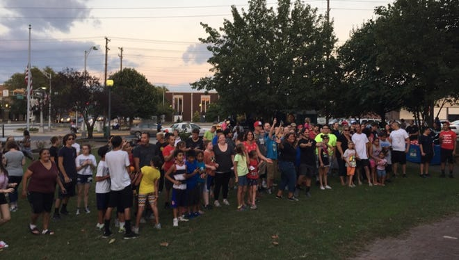 """More than 200 Pokemon enthusiasts turned out in downtown Vineland on Aug. 26 for a Pokémon GO 3K Walk, part of the monthly Fourth Friday """"Fitness and Film"""" initiative."""